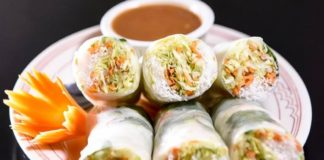 Tea Rose Diner - fresh spring rolls