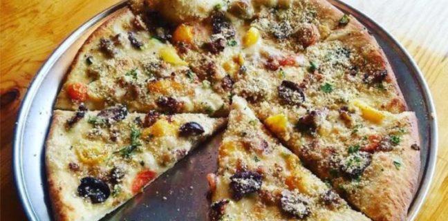 Vertical Pizza - vegan pizza