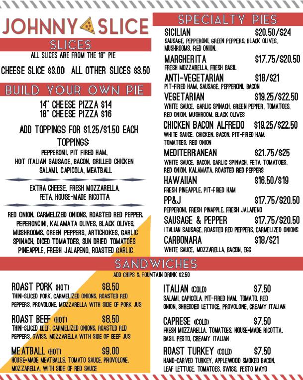 johnny slice menu 1