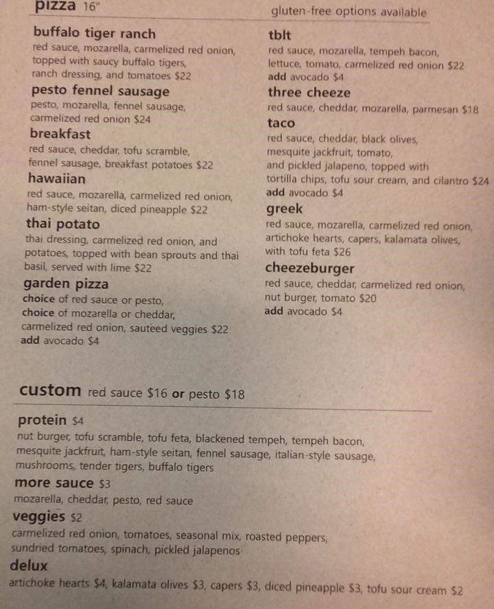 vertical pizza menu pizza