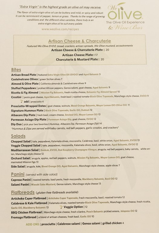 We Olive Salt Lake City menu - food