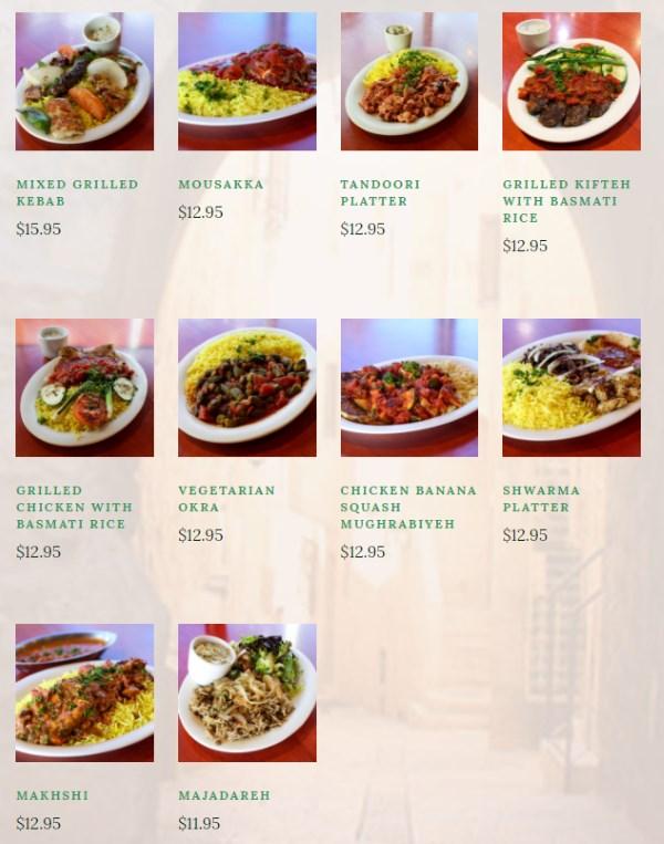 O Falafel menu - entrees