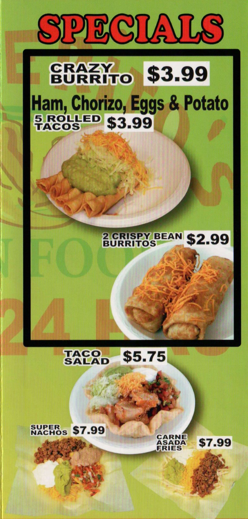 Rancherito's Mexican Food - specials