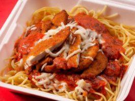 Moochie's Meatballs And More menu - chicken parmigiana. Credit Moochies.