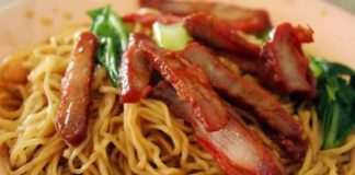 Zabb Noodles menu - BBQ pork with egg noodles. Credit, Zabb Noodles