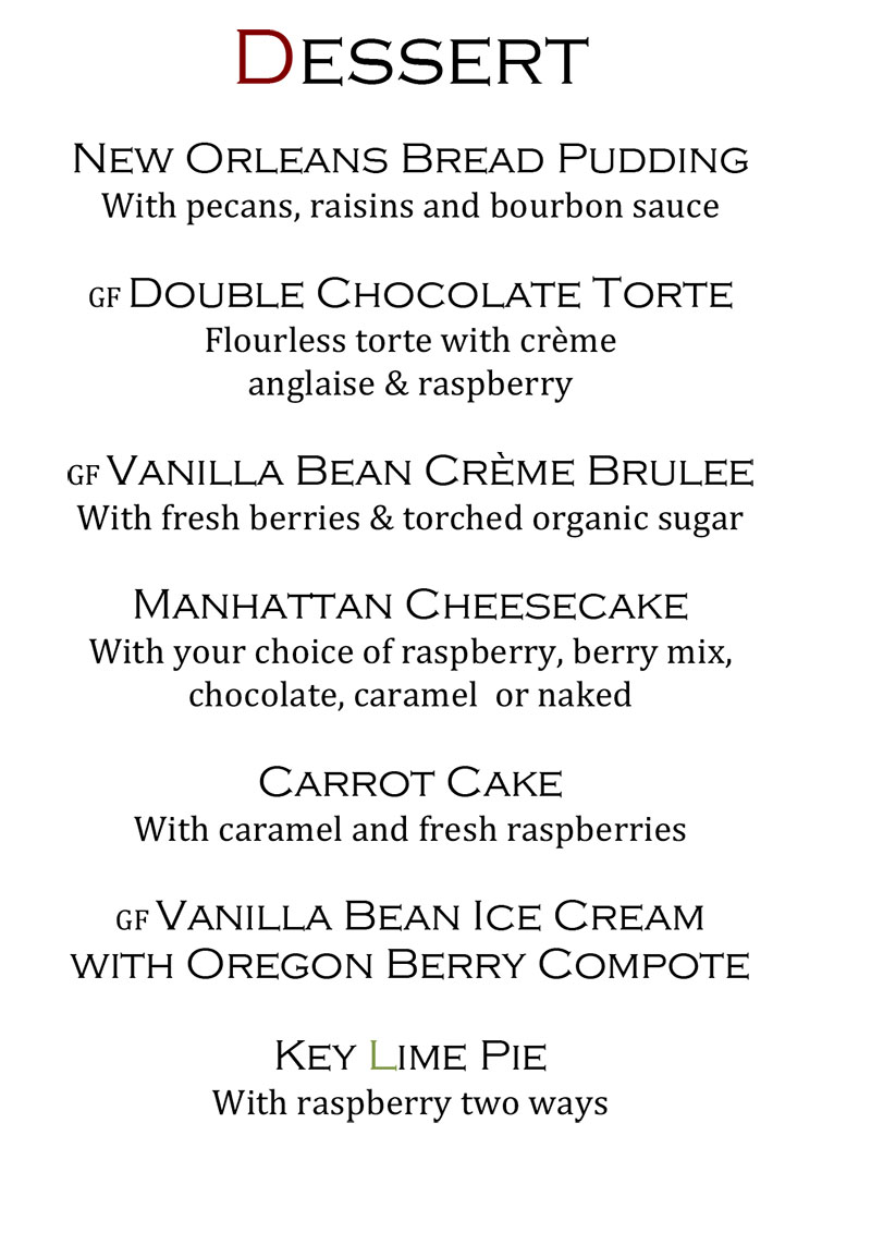 Christophers Steak House menu - dessert.jpg
