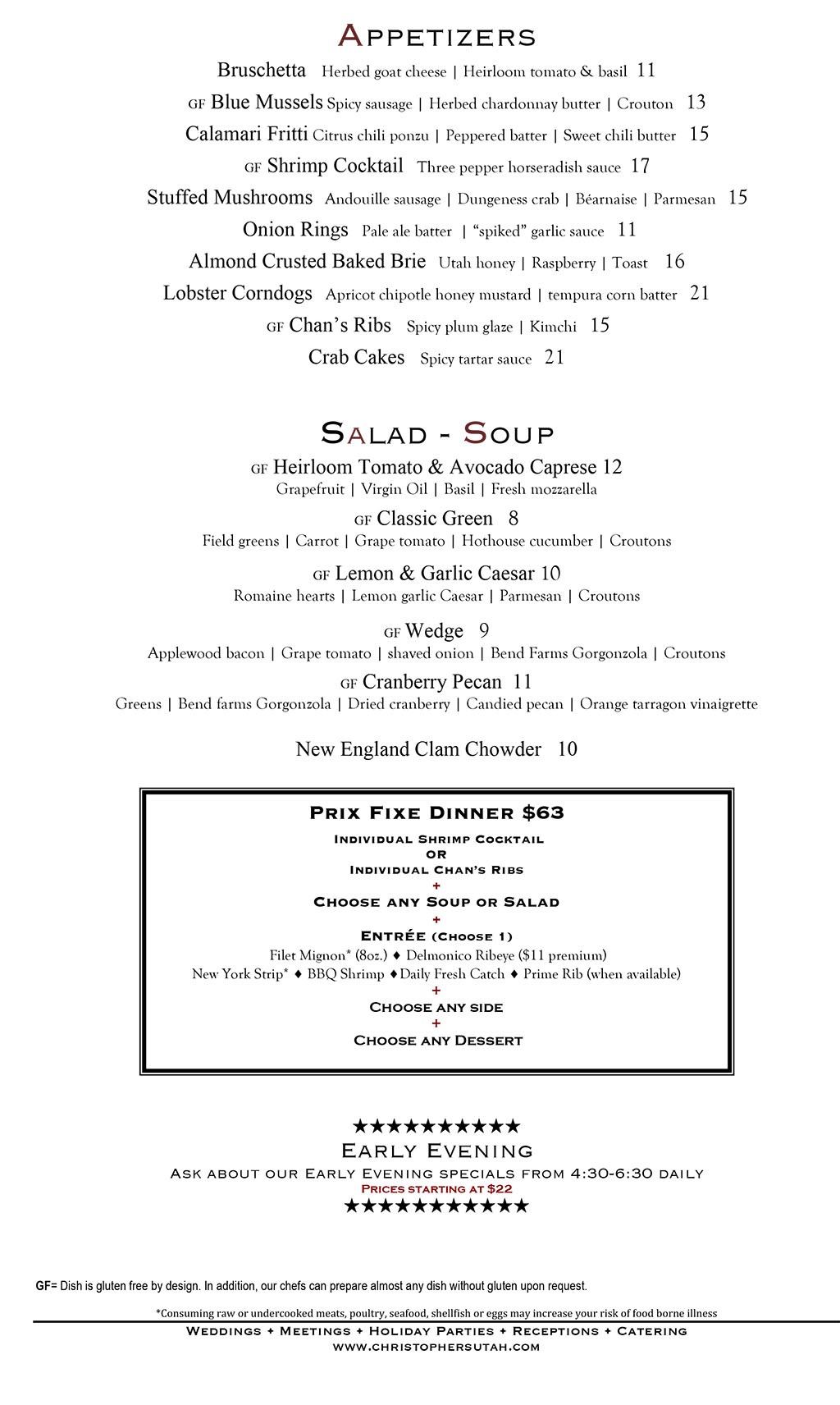 Christophers Steak House menu - steaks, chops, specialties, sides.jpg