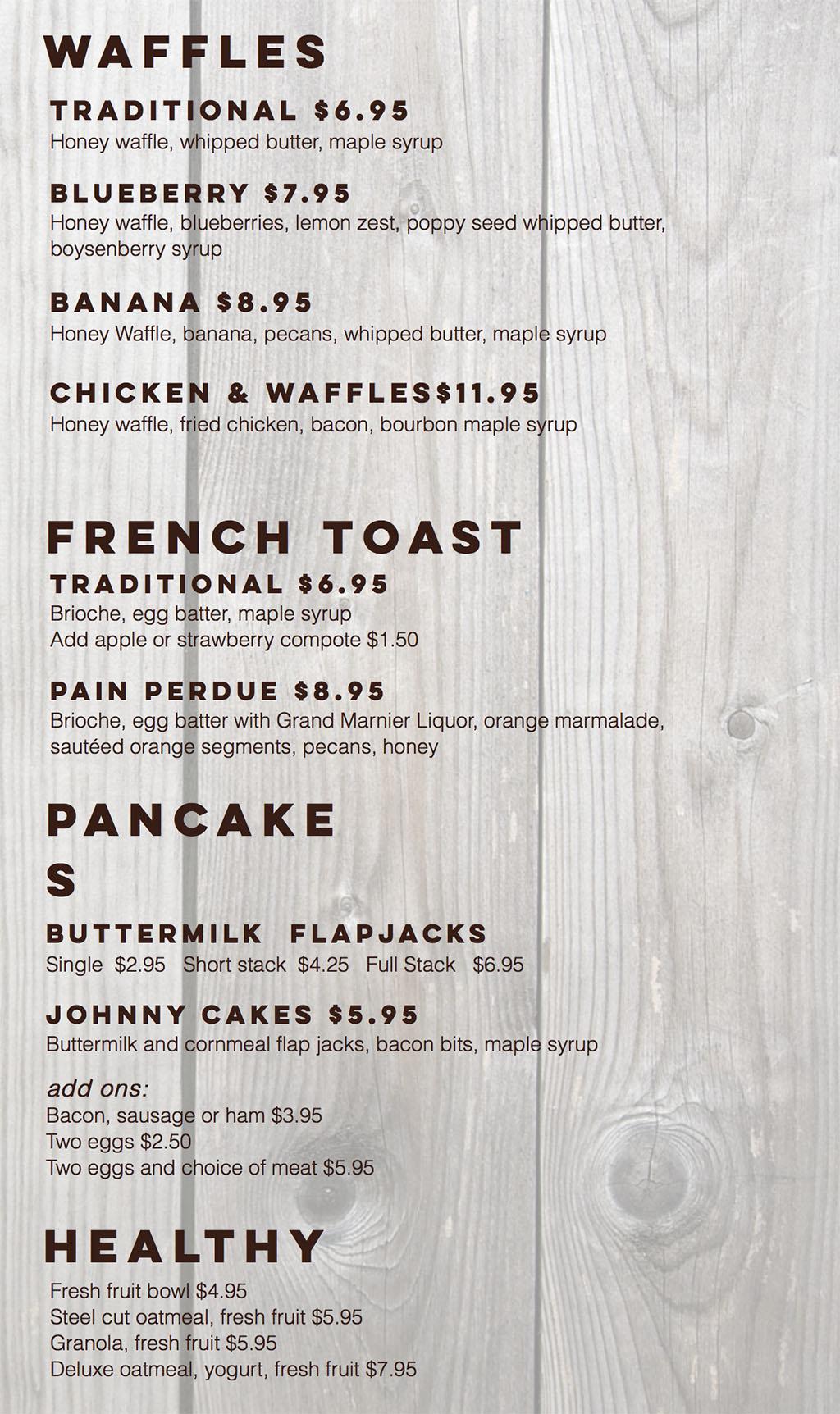 Billy B's Hash House menu - appetizers