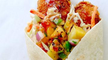 Cluck Truck gourmet chicken wraps. Credit, Cluck Truck