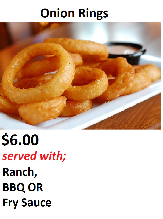 Fry Me To The Moon food truck menu - onion rings