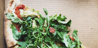 Nomad Eatery - vegan pizza, credit Amanda Rock