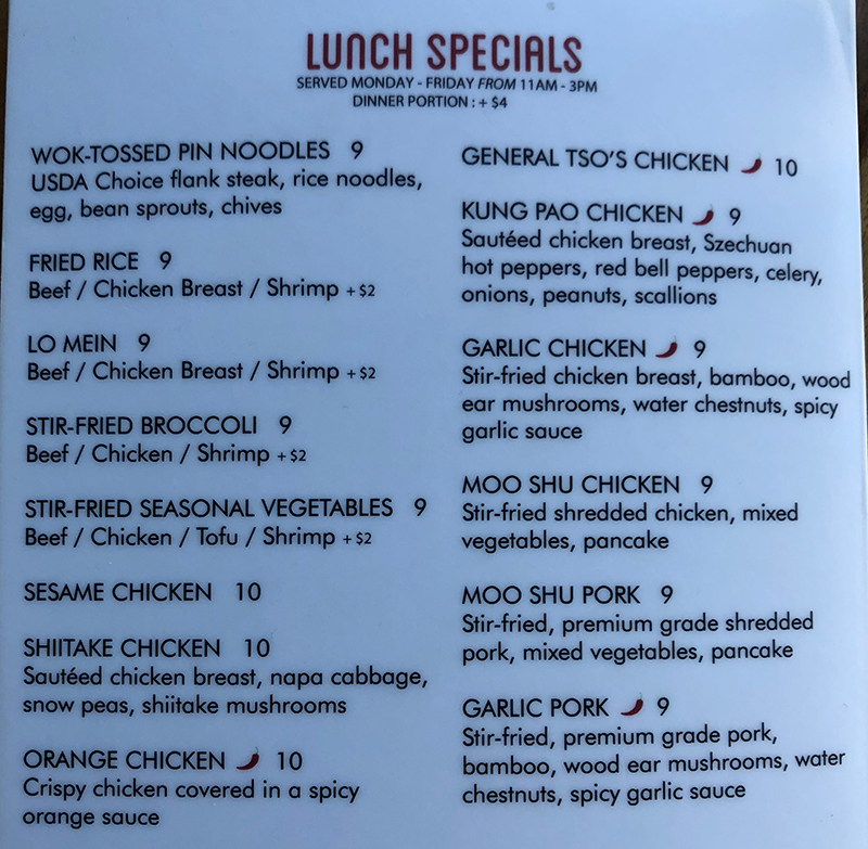 SOMI Vietnamese Bistro menu - lunch specials