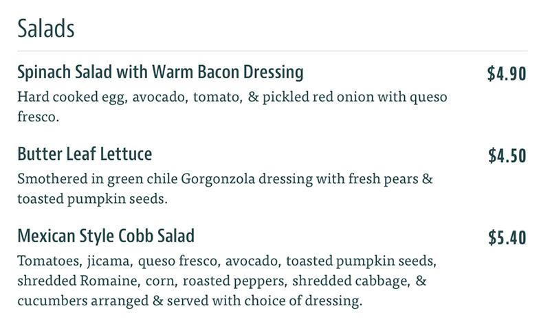 Taqueria 27 menu - salads