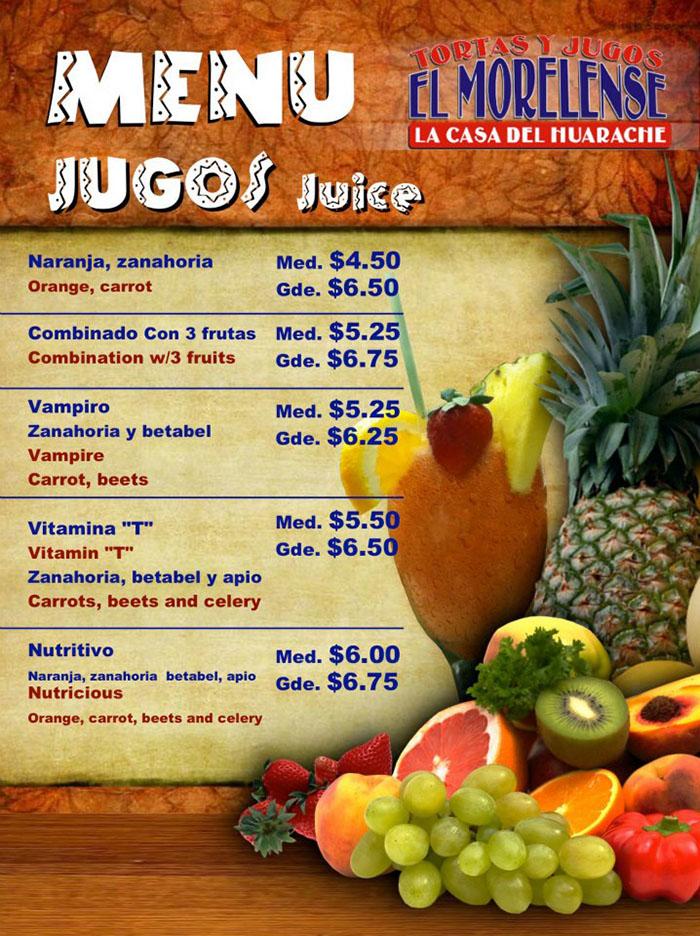 El Morelense menu - juice