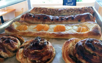 Finn's Cafe - fresh Danish pastries. Credit Finn's