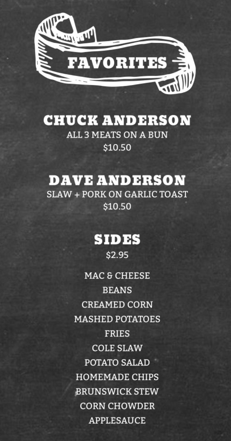 Five Star BBQ Company menu - favorites