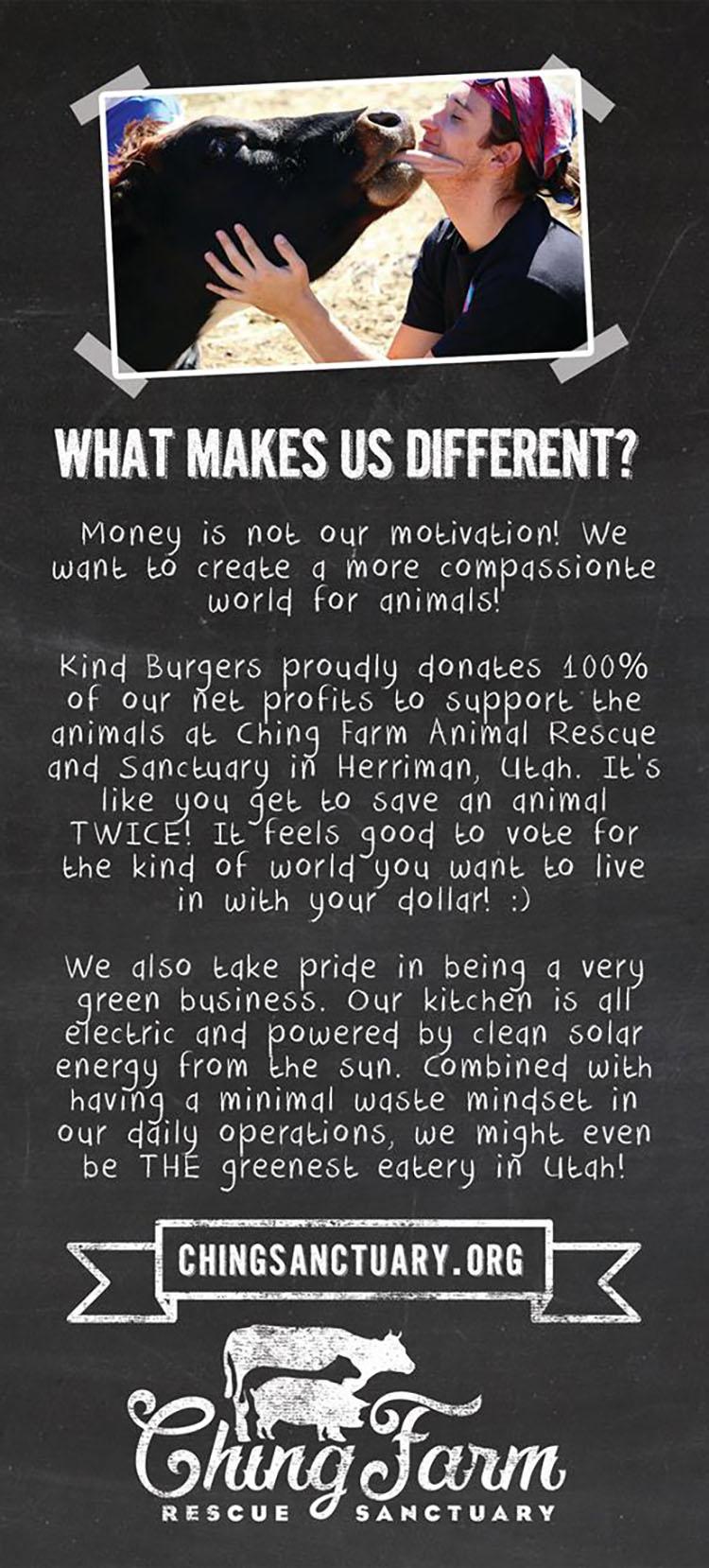 Kind Burger menu - page five