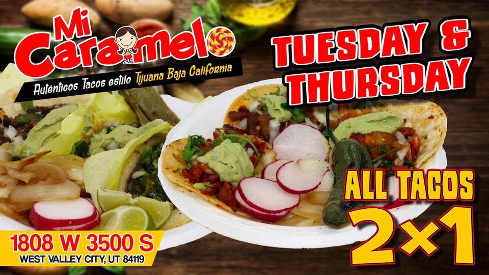 Tacos Mi Caramelo taco Tuesday and Thursday