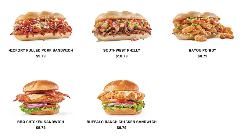 Buffalo Wild Wings menu - sandwiches