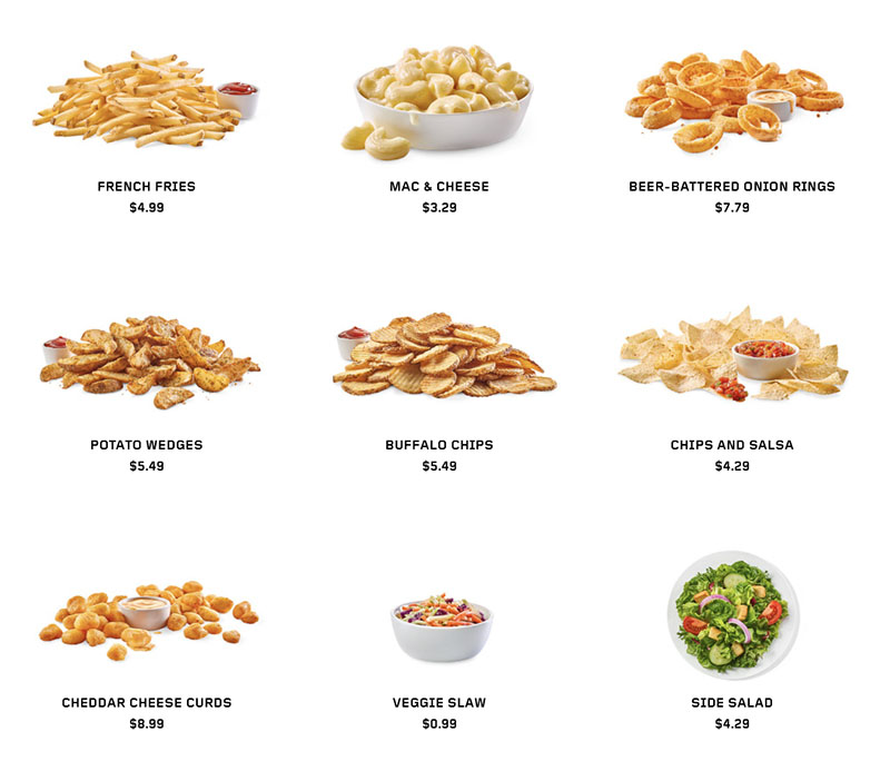 Buffalo Wild Wings menu - sides