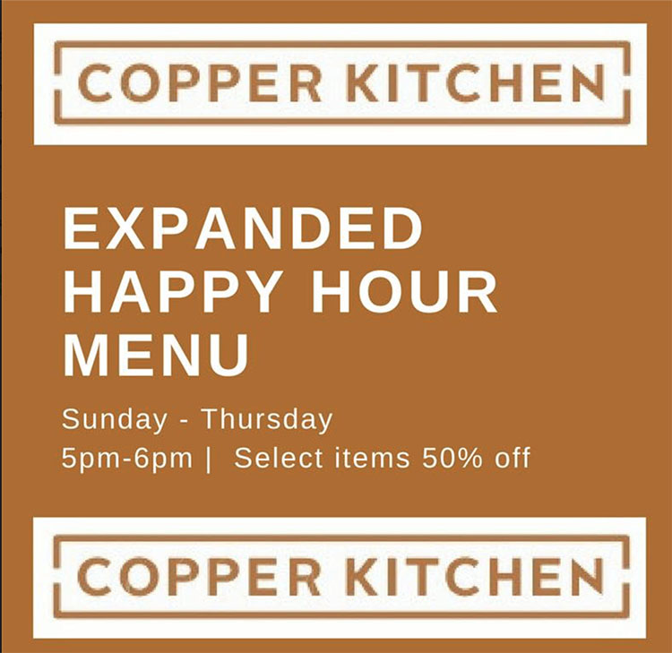Copper Kitchen happy hour