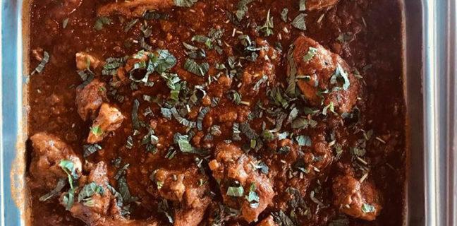 Kiraak - chicken chettinad from buffet. Credit Kiraak