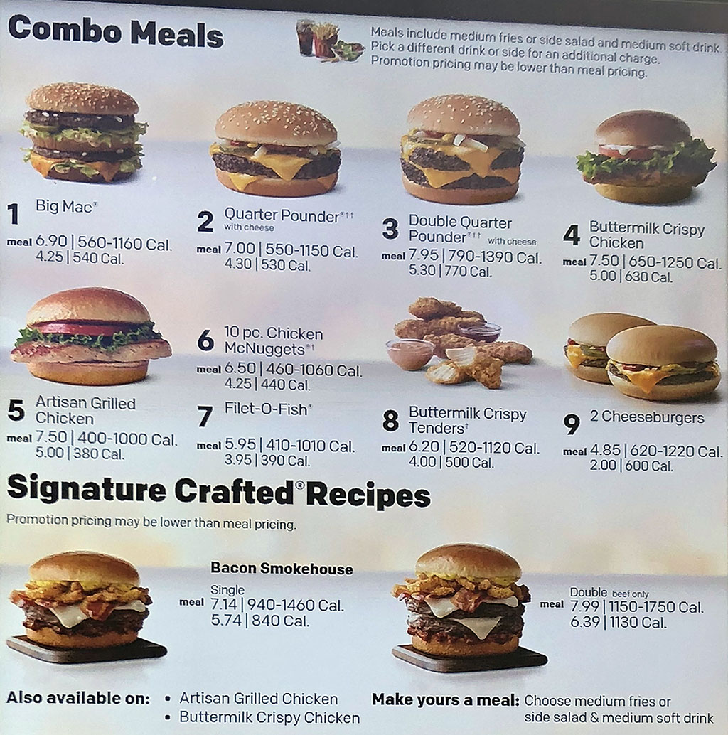 Mcdonalds Menu Prices Delivery Slc Menu