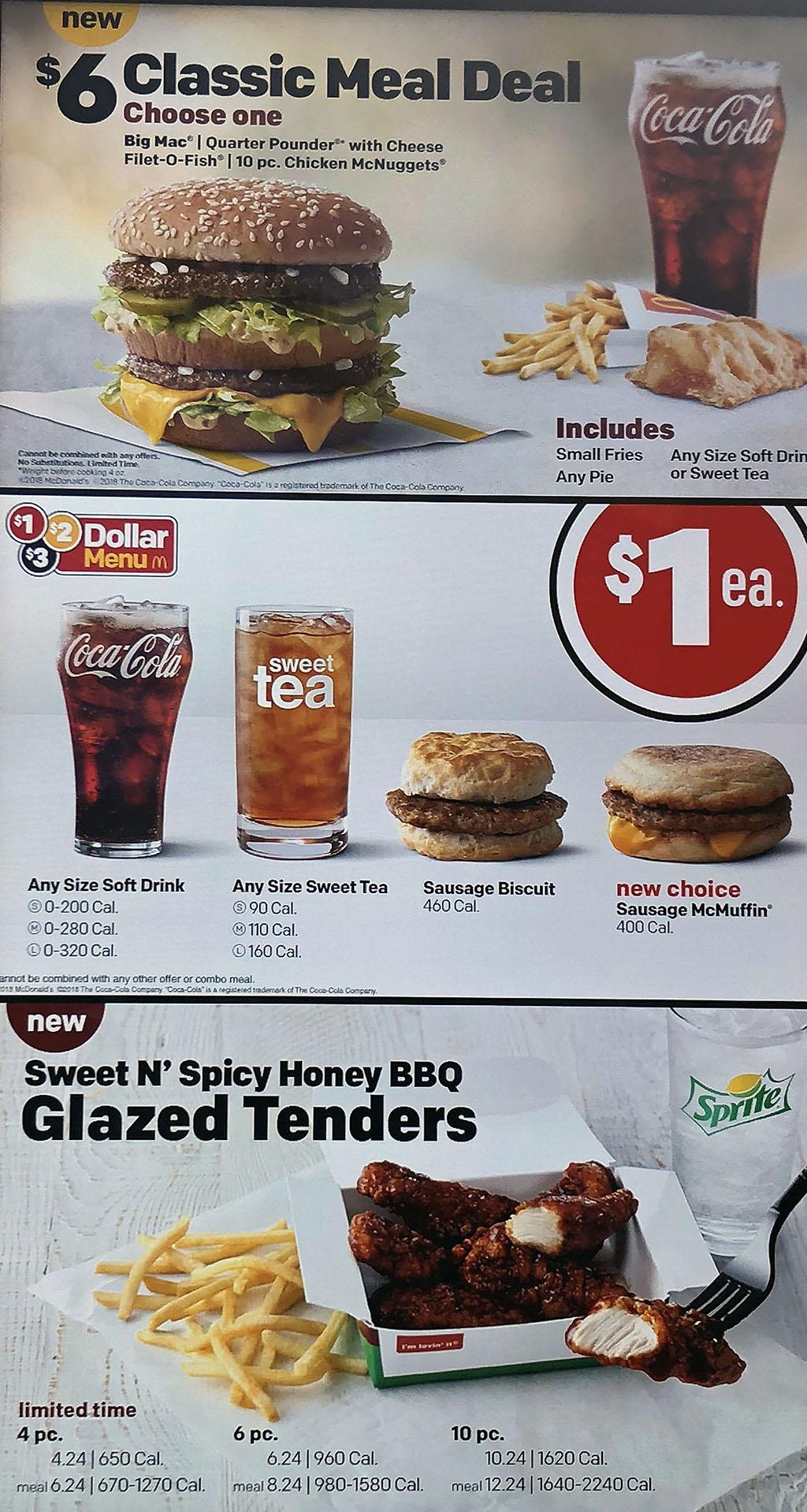 mcdonald's | menu | prices | delivery - slc menu