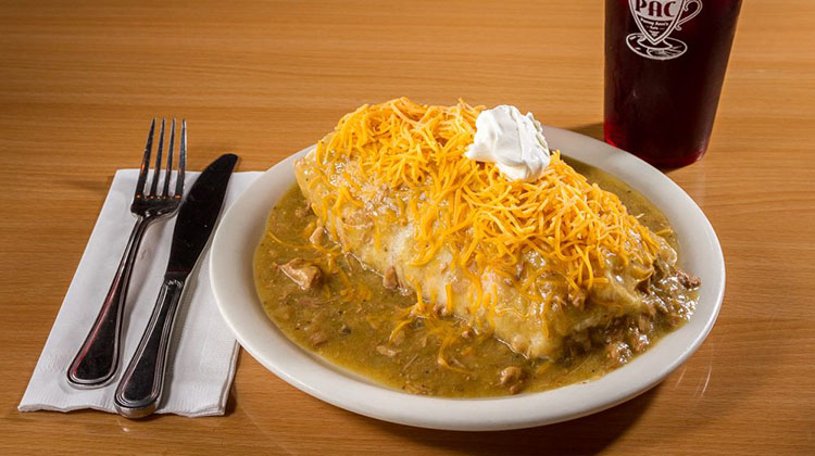 Penny Anns Cafe - smothered breakfast burrito. Credit, Penny Anns