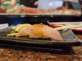 Sushi Groove - nigiri sushi at the sushi bar