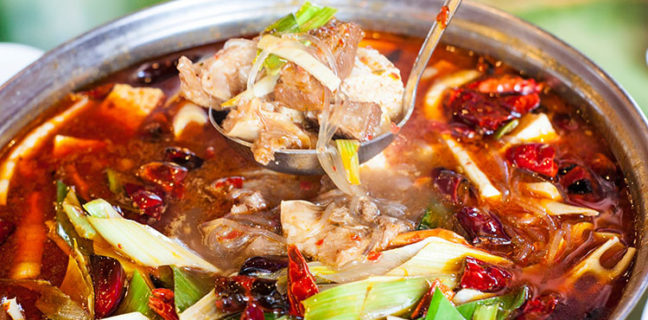 Sweet Ginger - beef, tofu, noodles in hot pot. Credit, Sweet Ginger