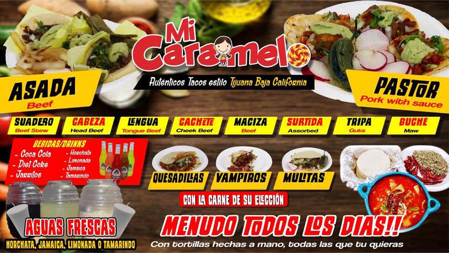 Tacos Mi Caramelo menu - info