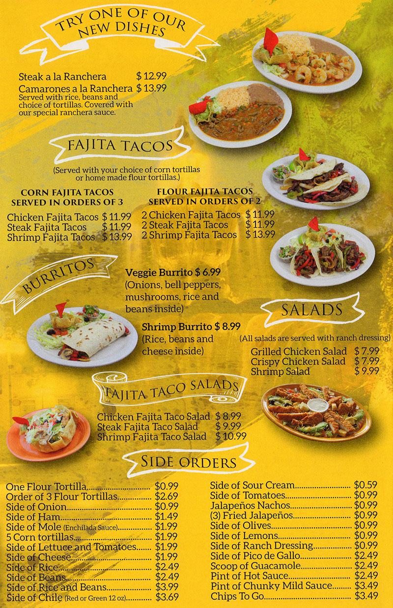 La Fountain menu - new items, sides