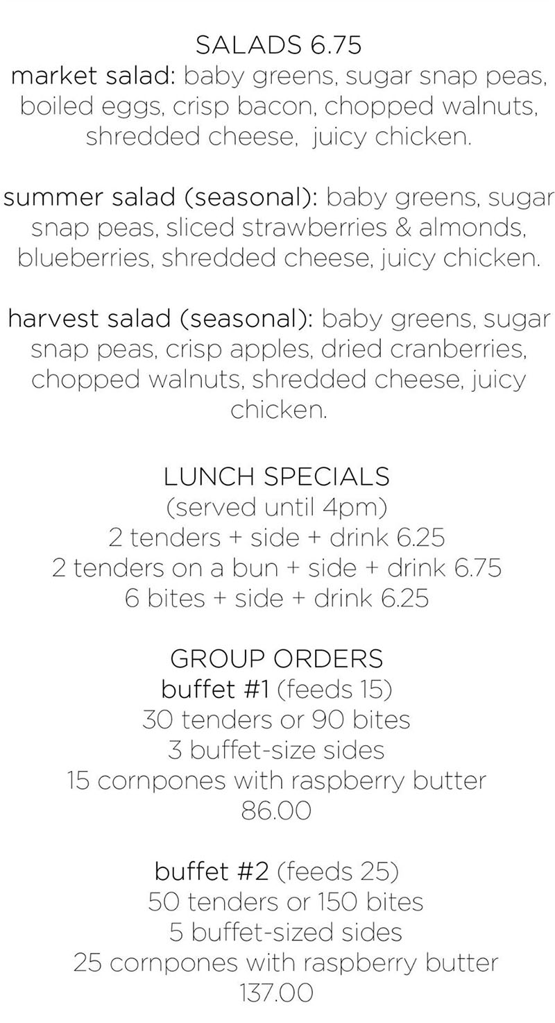 The Bird Syracuse menu - page two