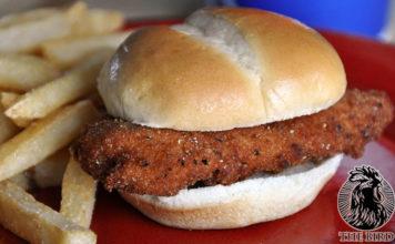 The Bird Syracuse - tender on a bun. Credit, The Bird