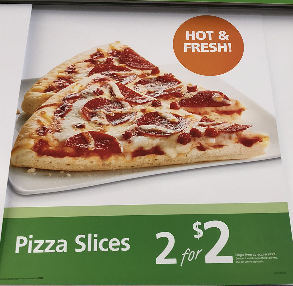 7-Eleven menu - pizza slice prices