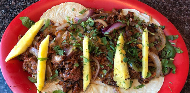 El Mexiquense Grill - Alambre Plate with Al Pastor meat (El Mexiquense)
