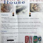 Kimchi House menu