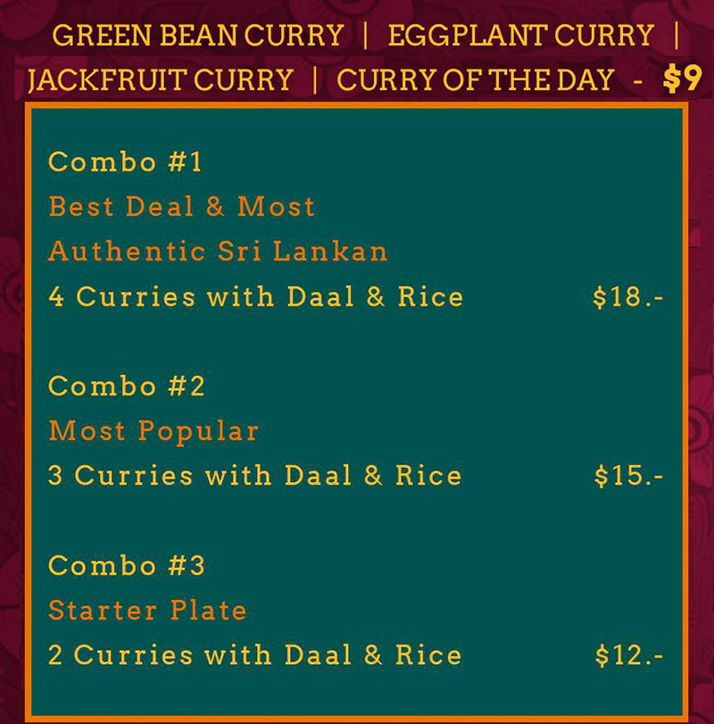 Moab Kitchen food truck menu - curry