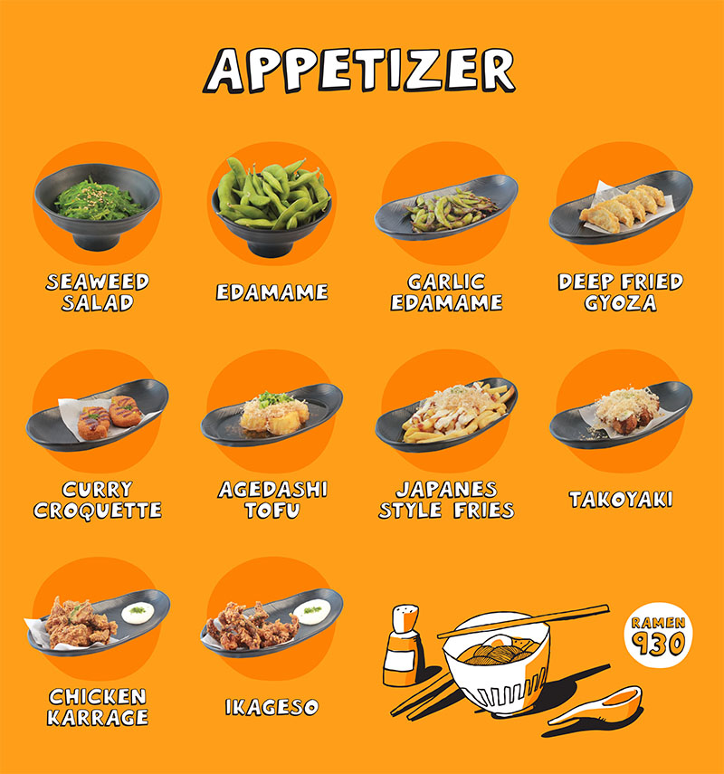 Ramen 930 menu - appetizers