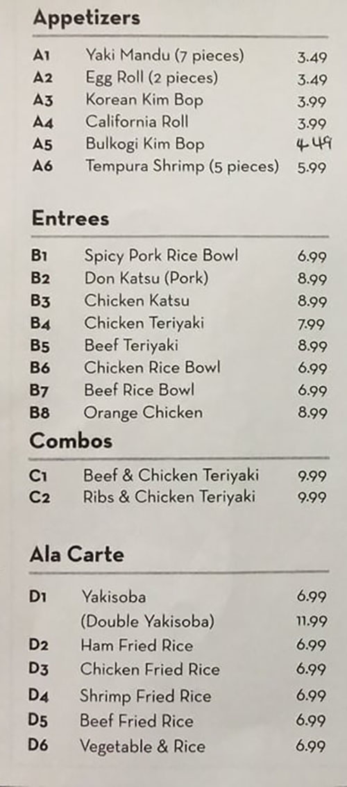 Best Teriyaki Restaurant Layton Menu