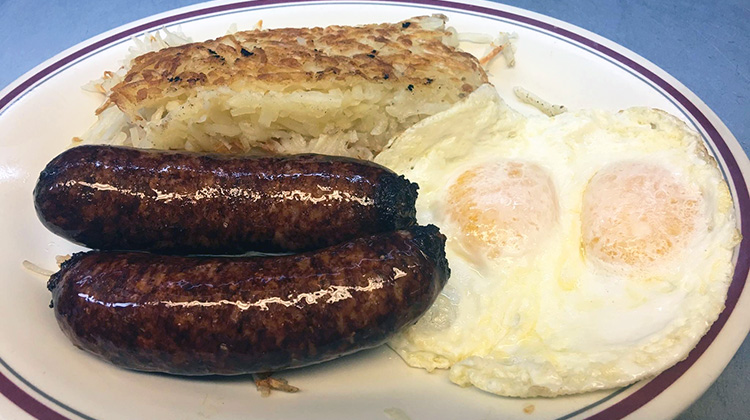The Olympian - Italian sausages and eggs (The Olympian)