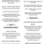 The Day Cafe menu