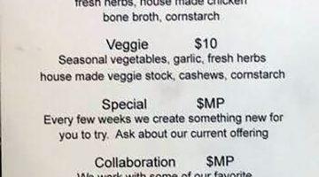The Dispensary menu