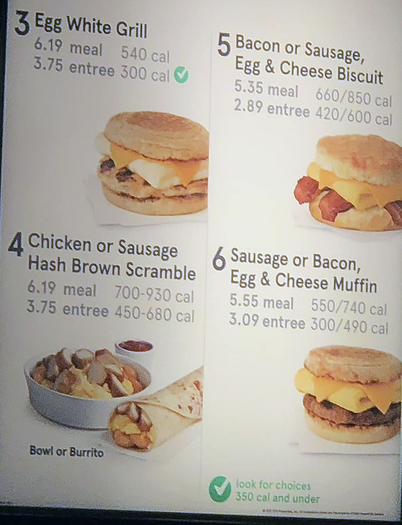 Chick-fil-A menu - breakast meals continued