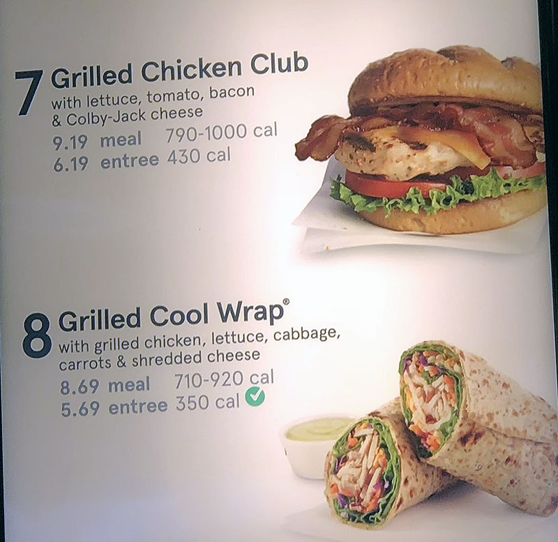 Chick-fil-A menu - grilled meals continued