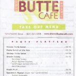 Red Butte Cafe menu