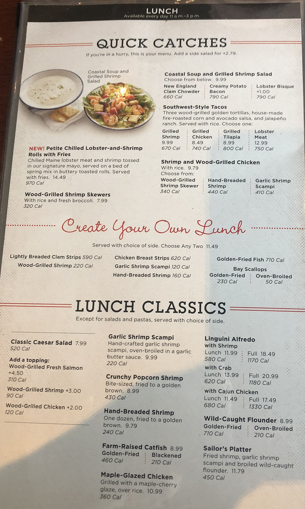 Red Lobster Menu With Prices Slc Menu