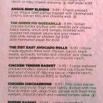 Green Pig Pub menu