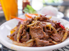 Indochine Vietnamese Bistro menu - chilli spiced flank steak
